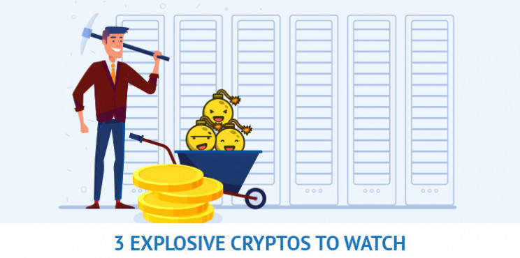 3 Potentially Explosive Cryptocurrencies To Watch This Month