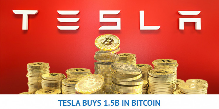 Bitcoin Surpasses $44,000 as Tesla Buys $1.5 Billion