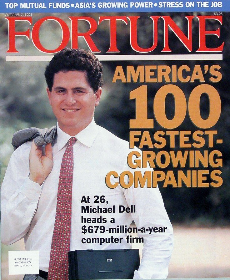 Michael Dell on the cover of