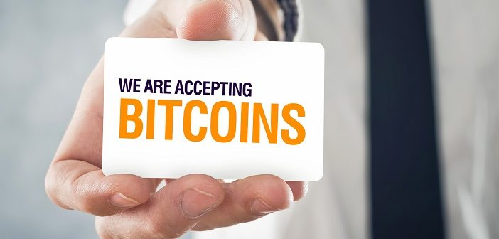 accepting bitcoin as payment method