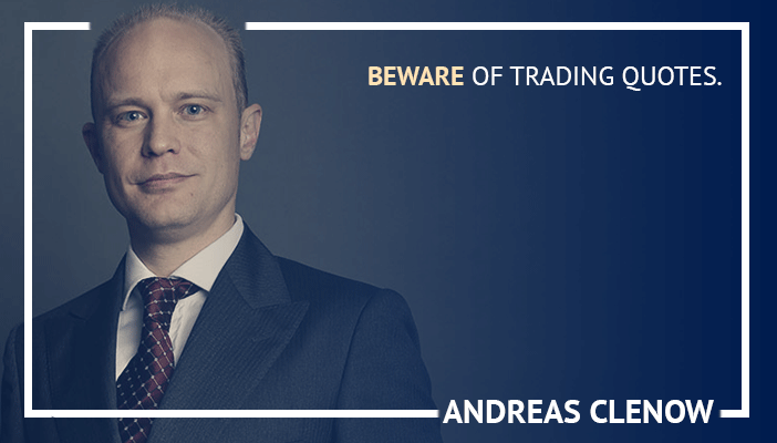 Inspirational trading quotes by Andreas Clenow