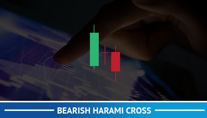 bearish harami cross, candlestick pattern