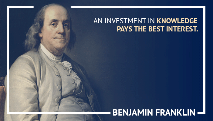 Inspirational trading quotes by Benjamin Franklin