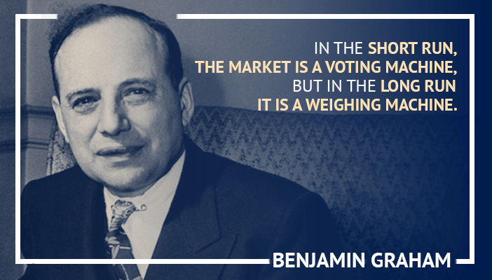 Inspirational trading quotes by Benjamin Graham