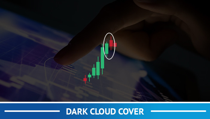 dark cloud cover, candlestick pattern
