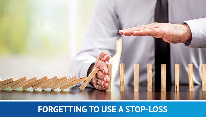 forgetting stop loss, mistakes forex traders make