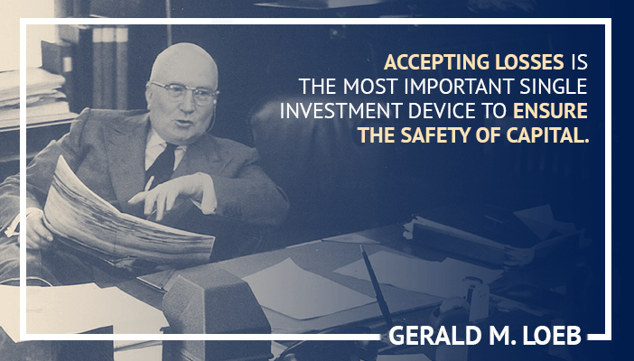 Inspirational trading quotes by Gerald M Loeb