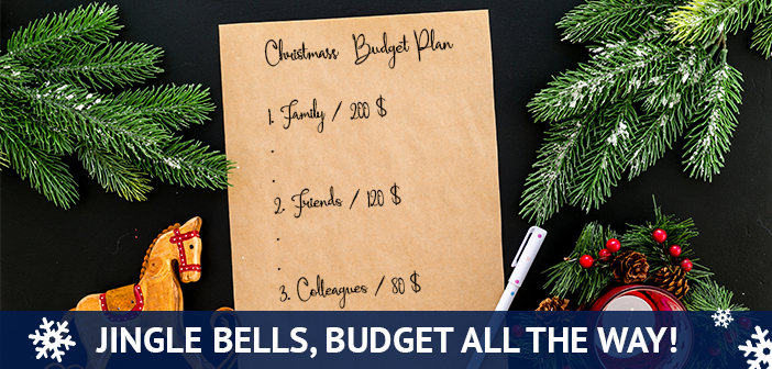 create budgets for the holidays