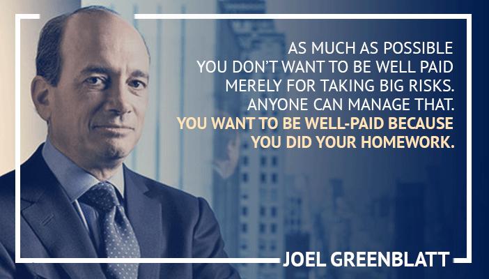 Inspirational trading quotes by Joel Grenblatt