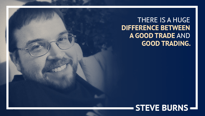 Inspirational trading quotes by Steve Burns