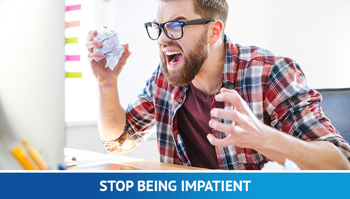stop being impatient, psychology of forex trading