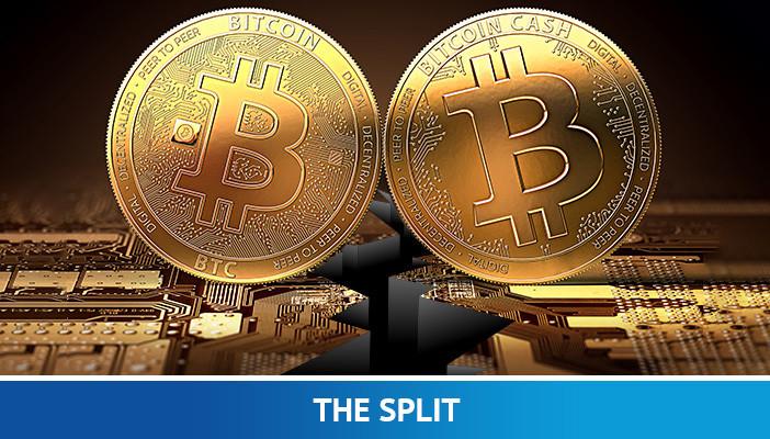 bitcoin and bitcoin cash split