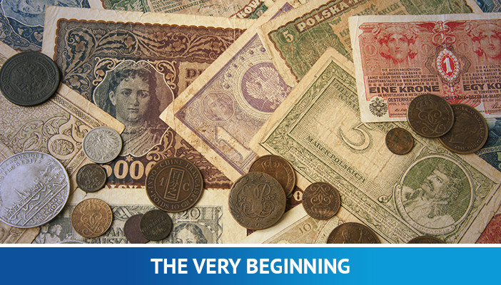 forex trading for beginners, the beginning of currency exchange