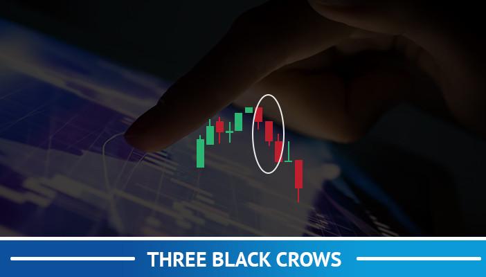 three black crows, candlestick pattern