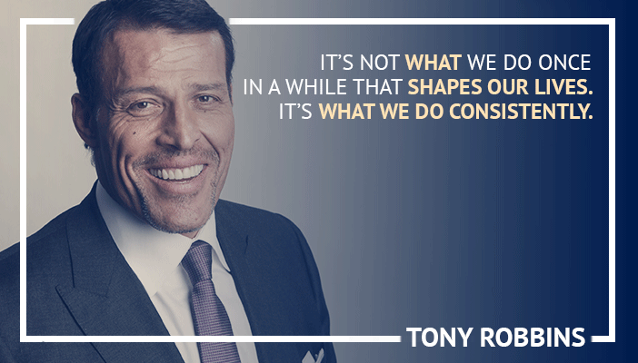 Inspirational trading quotes by Tony Robbins