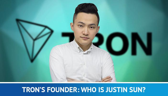 tron's founder, Justin Sun