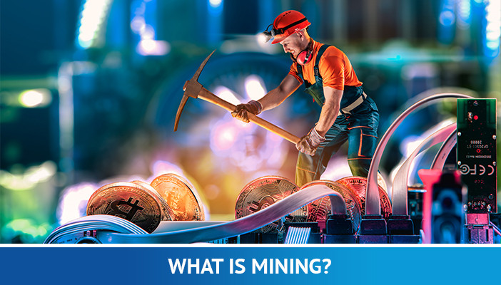 what is mining, man mining bitcoin
