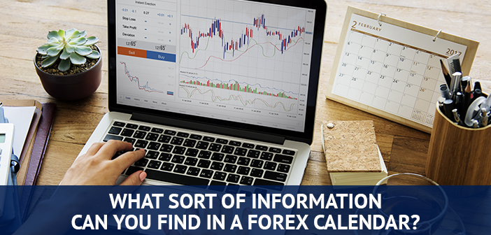 what information can you find in forex calendar