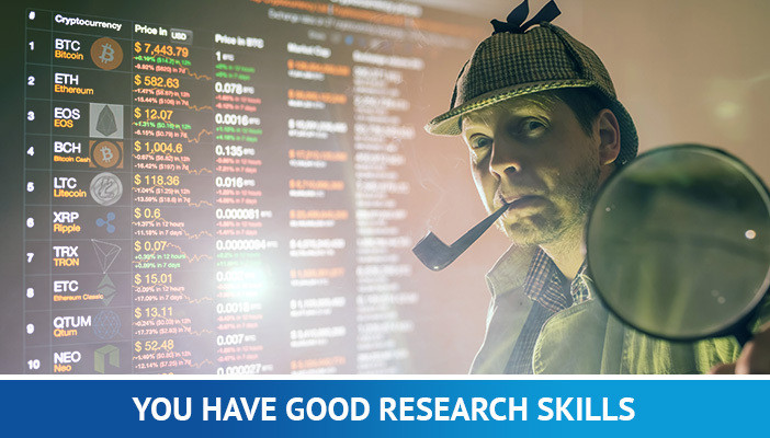 resarch skills, cryptocurrency trading
