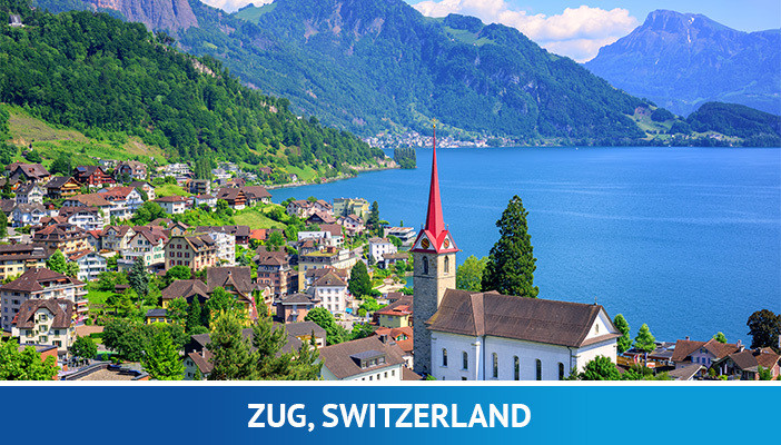 Zug, most crypto friendly cities