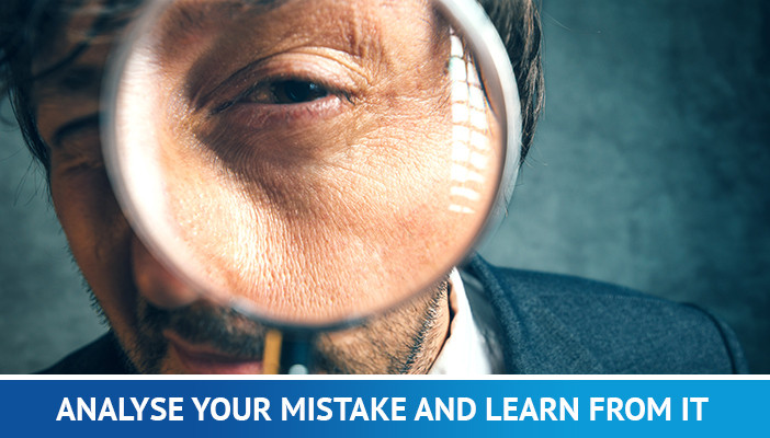 analyse your mistake, losing money trading