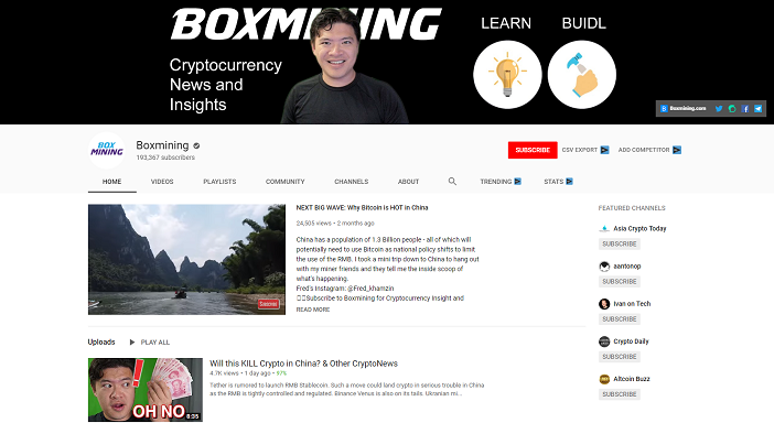 boxmining youtube channel, crypto youtubers