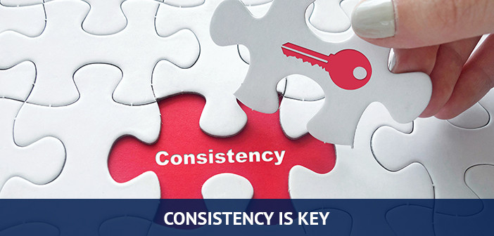 consistency is the key when trading forex
