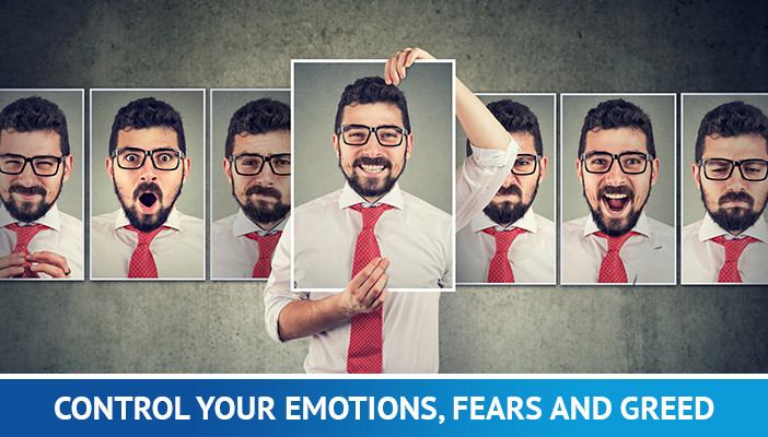 forex tricks and tips, control your emotions, fears and greed
