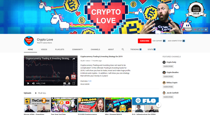 crypto love youtube channel