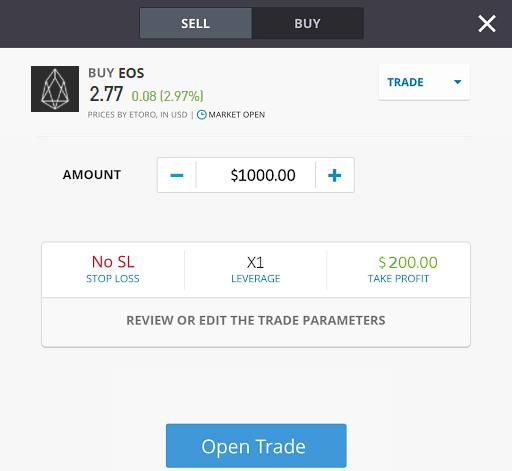 trading EOS