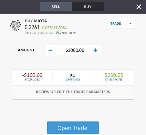 trading IOTA