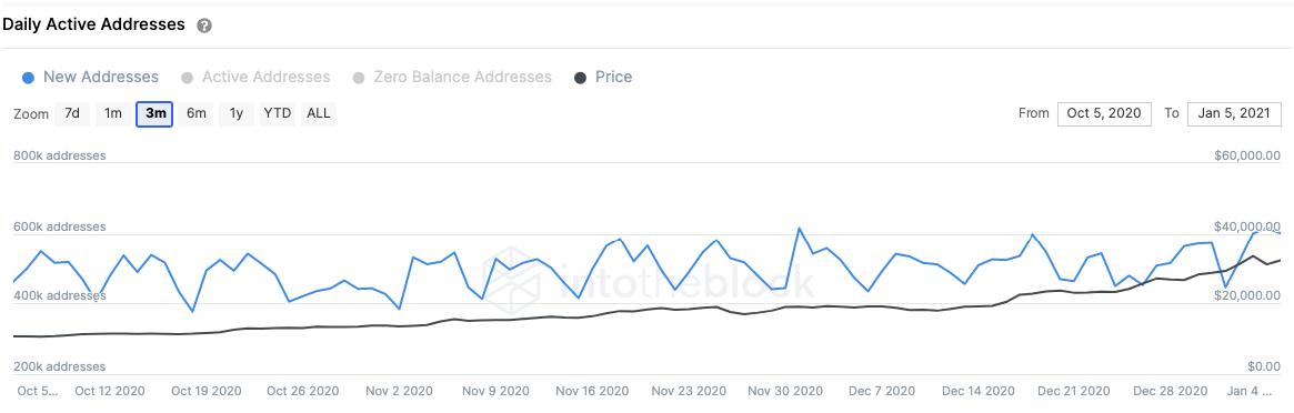 bitcoin addresses graph 010621