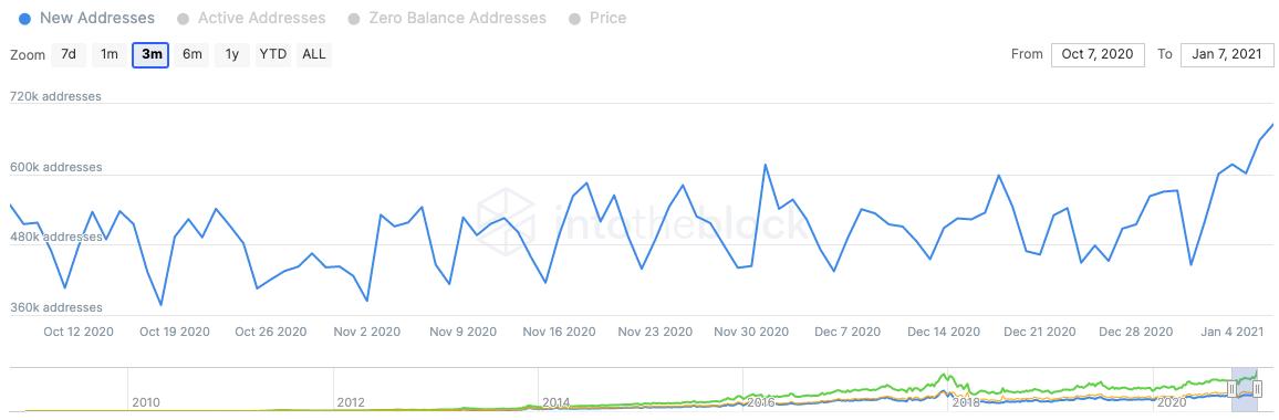 bitcoin addresses chart 010821