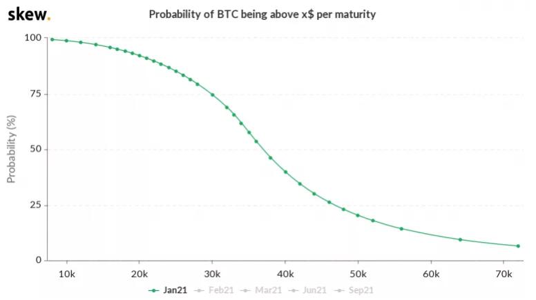 bitcoin price  probability chart 011521