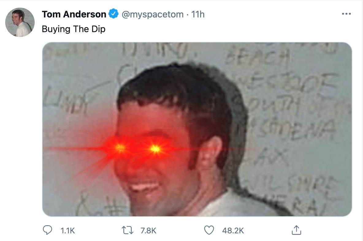 Tom Anderson Tweet