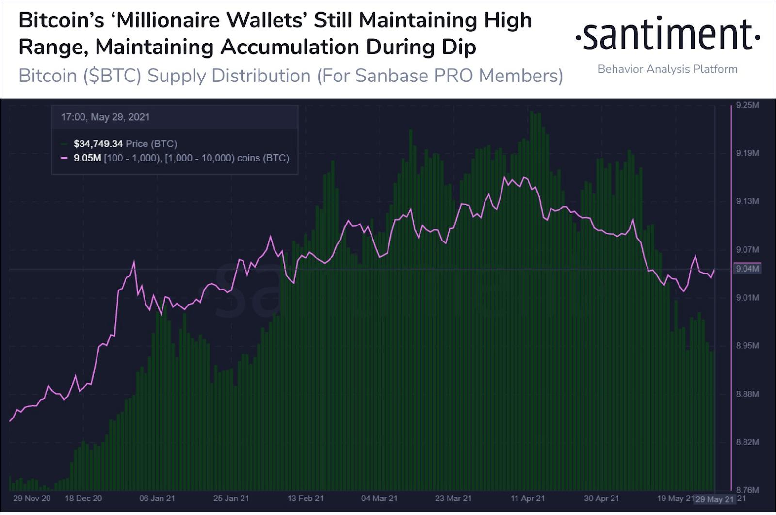 Bitcoin BTC Millionaire Wallets