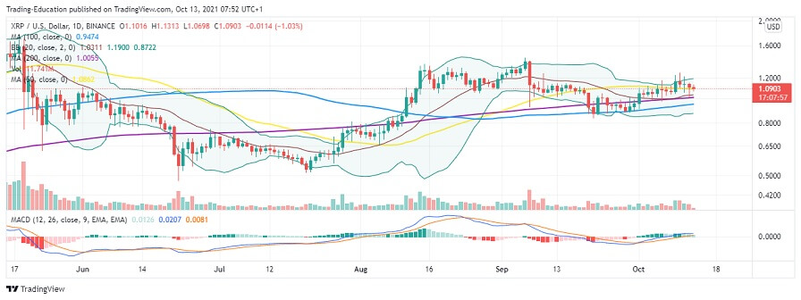 XRP/USD Daily Chart 101321