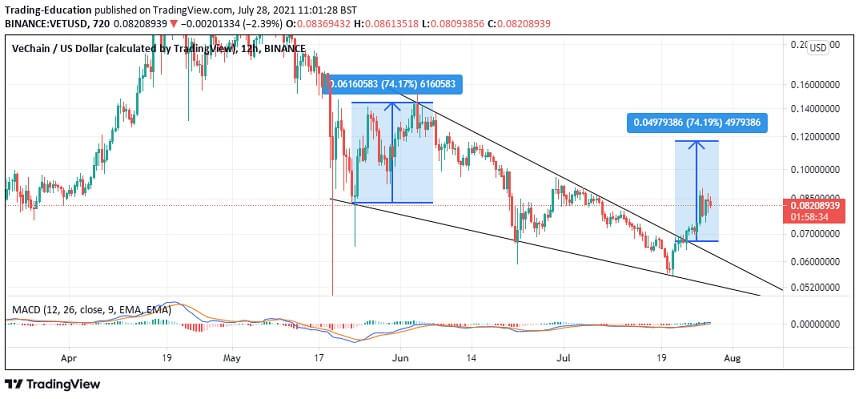 VET/USD 12-hour chart