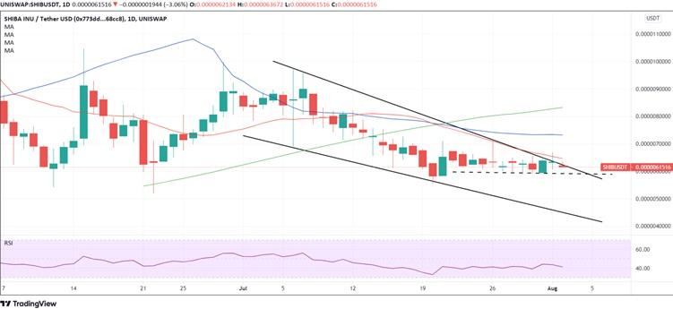 SHIB/USD daily chart 080221
