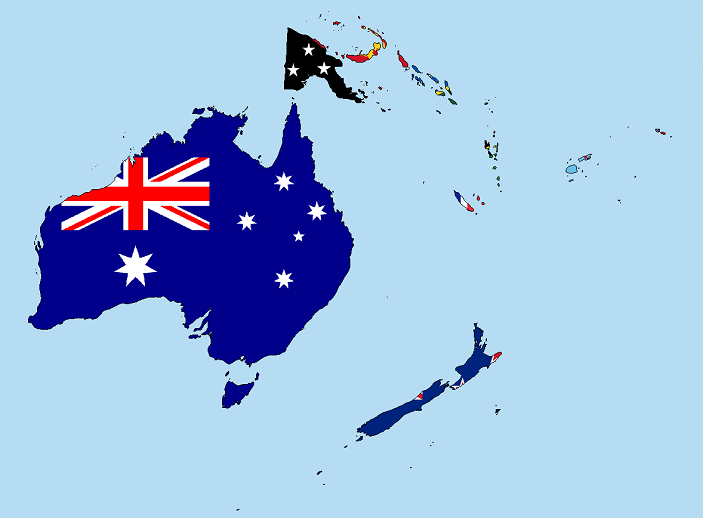 oceania counries map