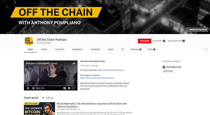 off the chain youtube channel, crypto youtubers