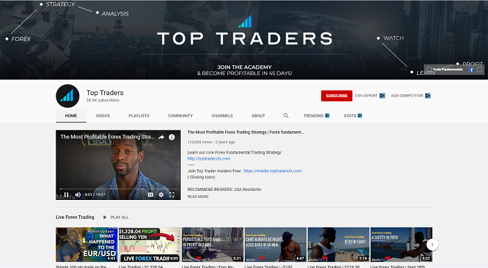 top traders youtube