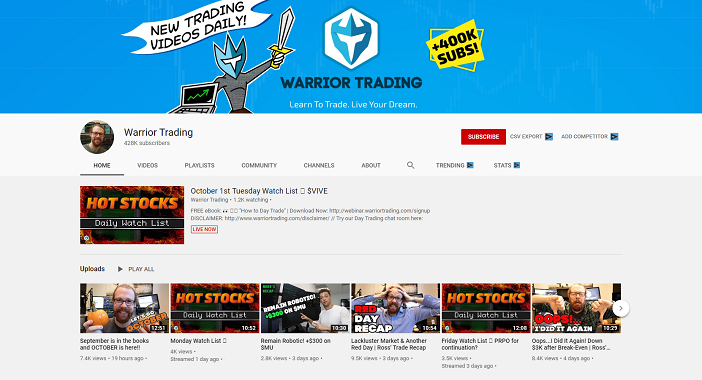warrior trading youtube