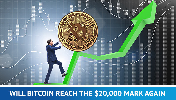bitcoin price, bitcoin and green arrow going up